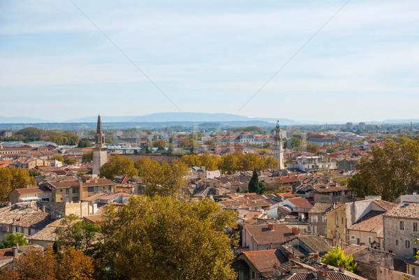 View over Avignon, France Stock photo © dinozzaver