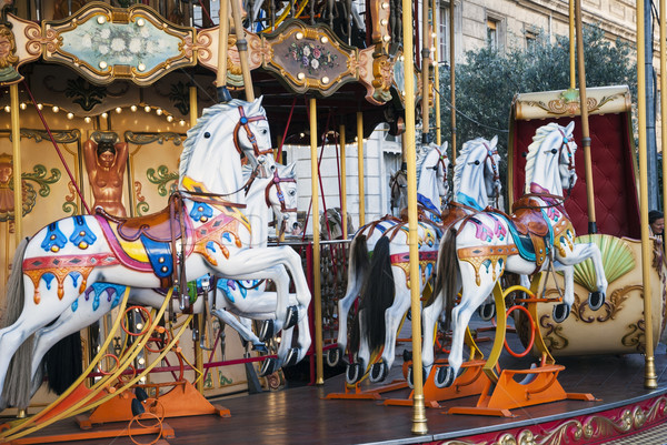 Old fashioned french carousel, roundabout Stock photo © dinozzaver