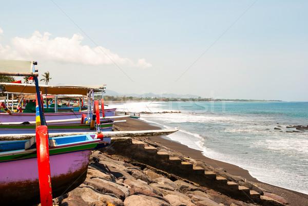 Tipico barche spiaggia bali Indonesia natura Foto d'archivio © dinozzaver