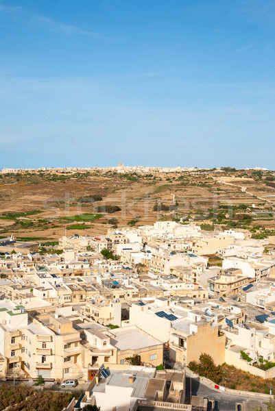 Widoku wyspa Malta miasta krajobraz kościoła Zdjęcia stock © dinozzaver