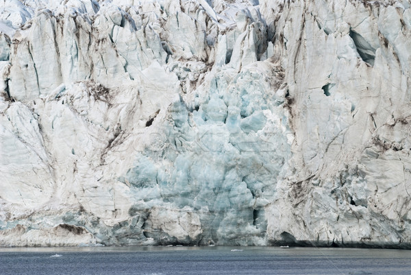 Közelkép kék jég gleccser tenger repedések Stock fotó © dinozzaver