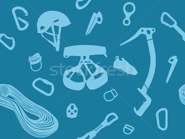 Escalada vector azul fondo Foto stock © dinozzaver