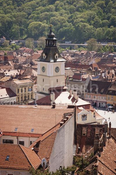 Rumania vista casa ciudad iglesia viaje Foto stock © dinozzaver
