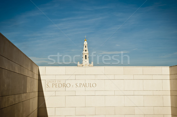 Kerk Portugal bedevaart stad hemel Stockfoto © dinozzaver