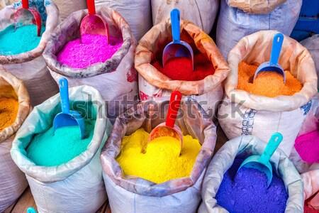 Colorido sacos secar textura fundo beleza Foto stock © dinozzaver