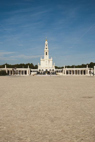 Португалия паломничество католический центр небе крест Сток-фото © dinozzaver
