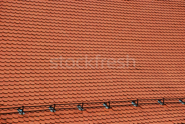 New red roof texture Stock photo © dinozzaver