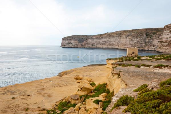 Stockfoto: Malta · kust · hemel · water · zee
