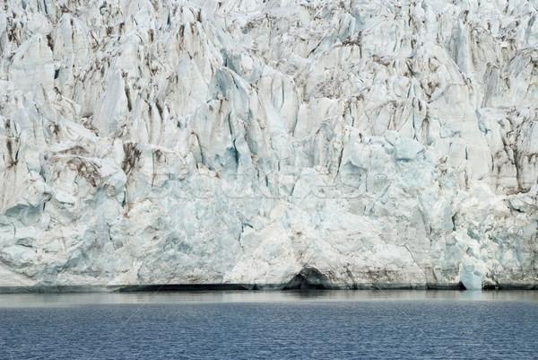 Blu ghiaccio ghiacciaio mare crepe Foto d'archivio © dinozzaver