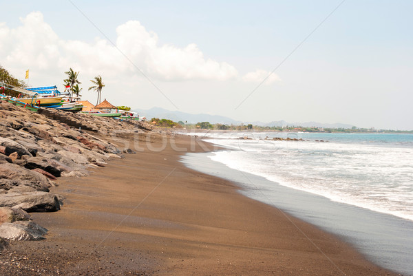 Playa típico indonesio barcos bali Indonesia Foto stock © dinozzaver