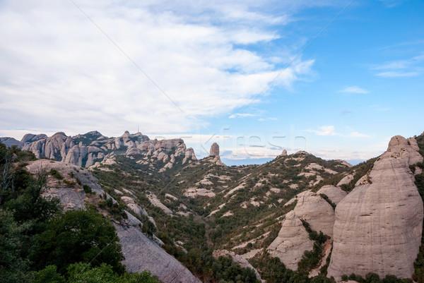 Mountains of Montserrat, near Barcelona Stock photo © dinozzaver