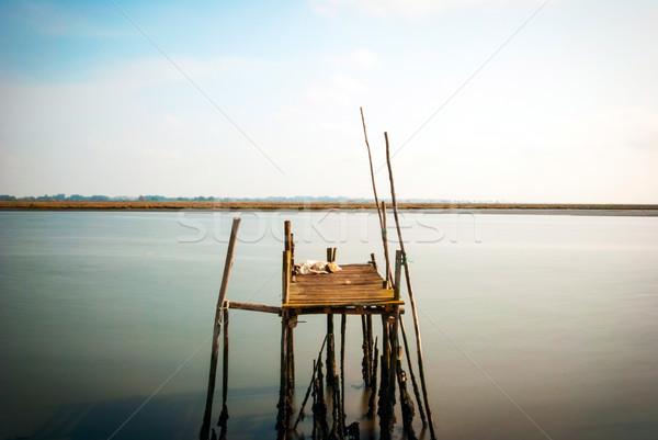 Old wooden pier, long exposure Stock photo © dinozzaver
