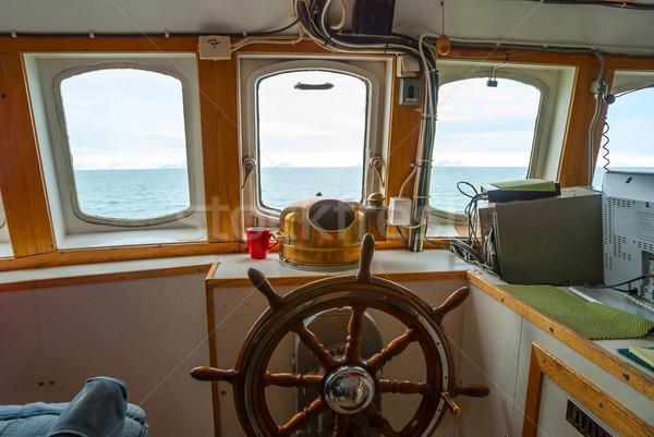 表示 キャビン ハンドル ボート ウィンドウ 水 ストックフォト © dinozzaver
