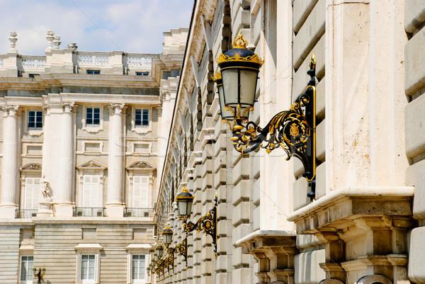 Royal Palace, Madrid Stock photo © dinozzaver