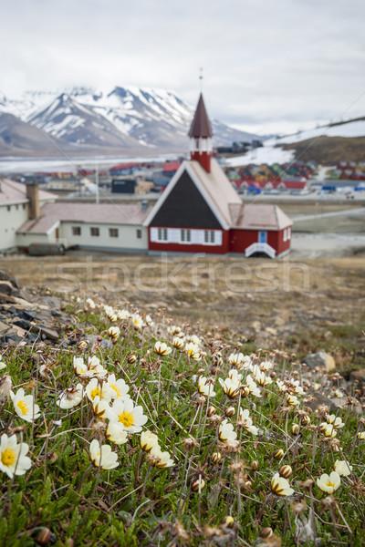 Church in Longyearbyen, Svalbard, Norway Stock photo © dinozzaver