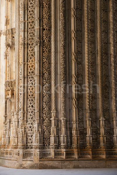 Detail of Batalha monastery Stock photo © dinozzaver