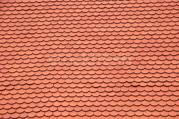 Nuovo rosso tetto texture abstract home Foto d'archivio © dinozzaver