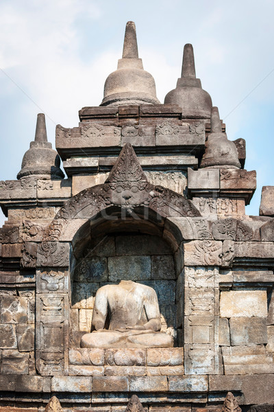 Tempel Indonesië detail buddha steen god Stockfoto © dinozzaver