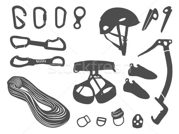 Climbing items vector set Stock photo © dinozzaver