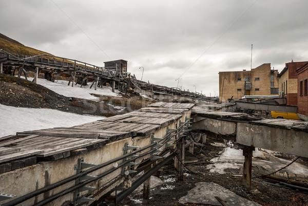 Heavy industry in Barentsburg, Russian settlement in Svalbard Stock photo © dinozzaver