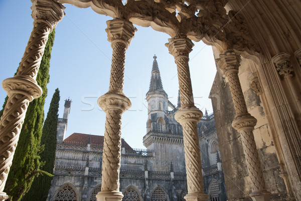 Detail of Batalha monastery Stock photo © dinozzaver
