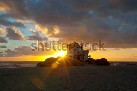 Senhor da Pedra chapel, Miramar, Portugal Stock photo © dinozzaver
