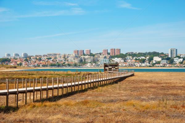 Bird observatory in natural park od Douro river, Porto Stock photo © dinozzaver