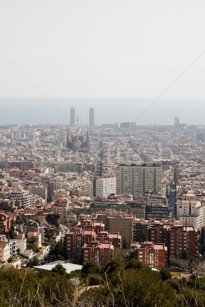 Görmek Barcelona İspanya iş gökyüzü ofis Stok fotoğraf © dinozzaver