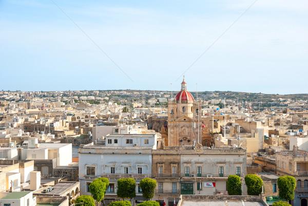 Kilátás sziget Málta város tájkép templom Stock fotó © dinozzaver