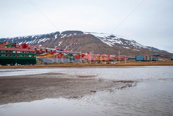 Longyearbyen city, Svalbard Stock photo © dinozzaver