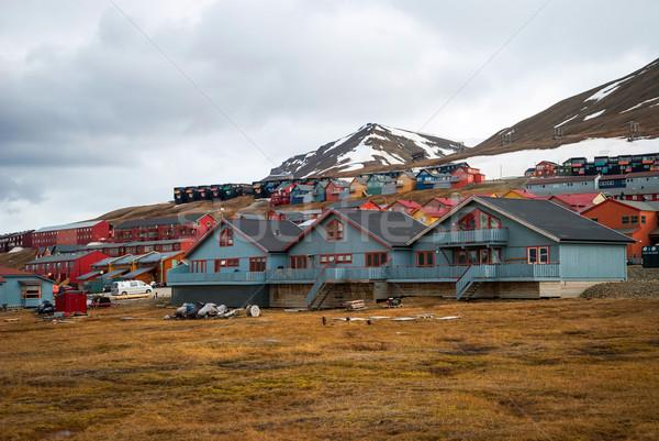Ciudad colorido casas casa naturaleza montana Foto stock © dinozzaver