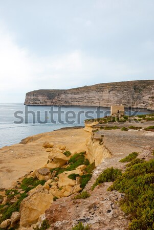 Cliffs at Xlendi, Gozo, Malta Stock photo © dinozzaver