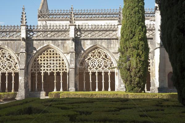Kolostor Portugália unesco világ kulturális fa Stock fotó © dinozzaver