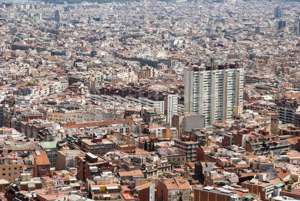Barcellona Spagna view costruzione strada estate Foto d'archivio © dinozzaver