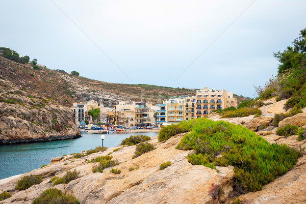 Stad eiland Malta hemel water Stockfoto © dinozzaver