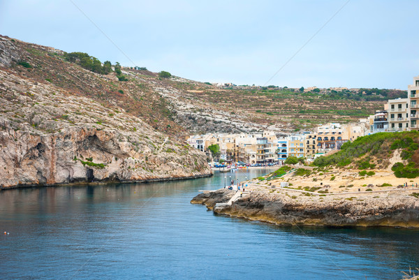 Xlendi, town at Gozo island, Malta Stock photo © dinozzaver