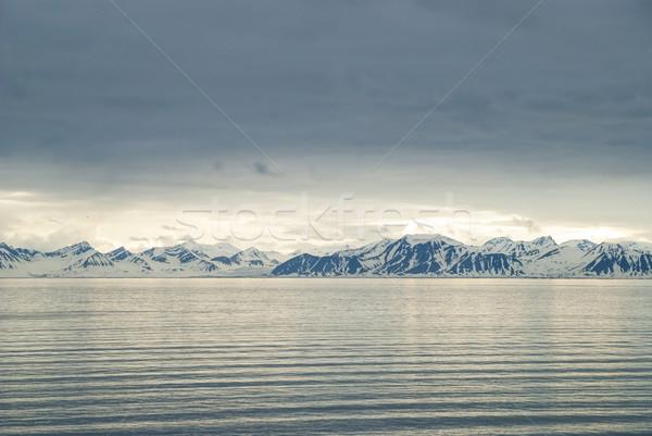 Foto stock: Montanas · océano · paisaje · agua · mar