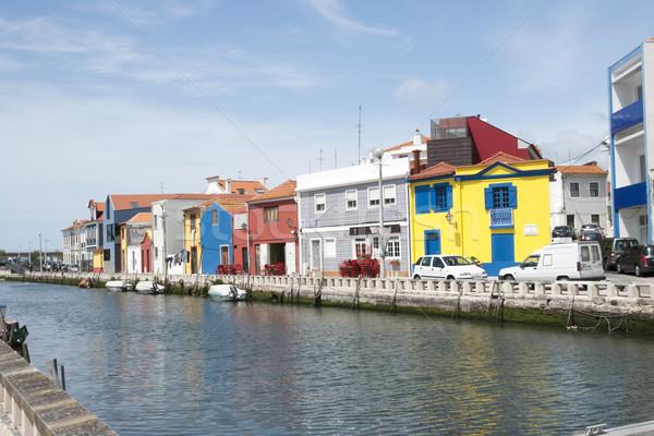 Water canal in Aveiro, Portugal Stock photo © dinozzaver