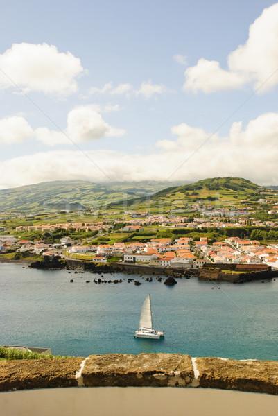 Stockfoto: Eiland · hemel · stad · zee · schoonheid