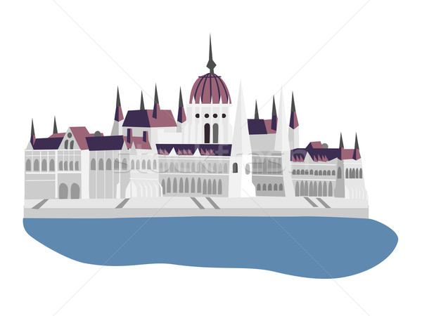 Budapest parlamento Hungría casa ciudad horizonte Foto stock © dinozzaver