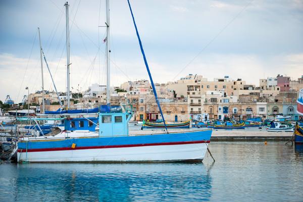 Barche Malta view acqua mare estate Foto d'archivio © dinozzaver