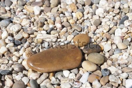 Сток-фото: каменные · ногу · пляж · печать · камней · текстуры