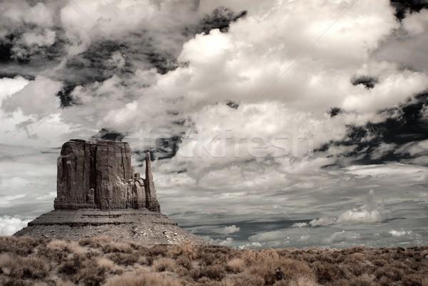 嵐の 天気 谷 アリゾナ州 自然 山 ストックフォト © diomedes66
