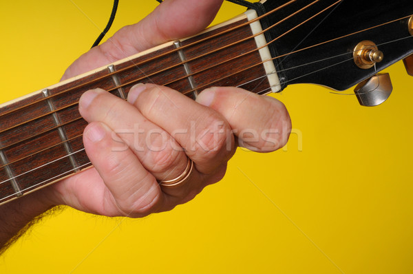 C major guitar chord Stock photo © diomedes66