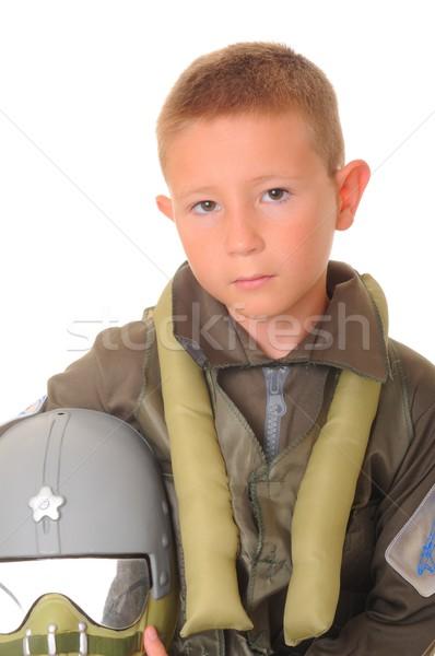 Boy Pilot Stock photo © diomedes66