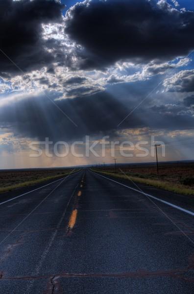 Desert Mountain Road Stock photo © diomedes66