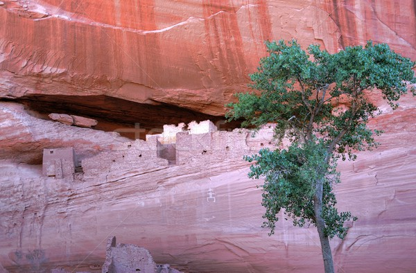 каньон вход стены пустыне искусства рок Сток-фото © diomedes66