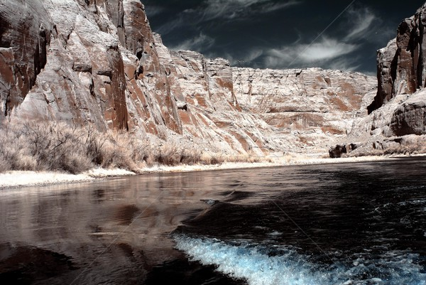 Colorado nehir kanyon Arizona manzara seyahat Stok fotoğraf © diomedes66