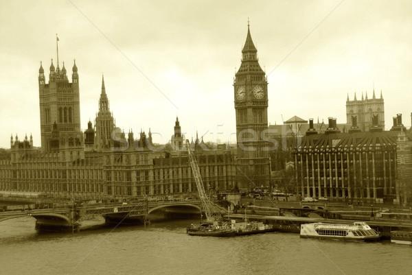 ロンドン イングランド 古い 時間 セピア ストックフォト © diomedes66