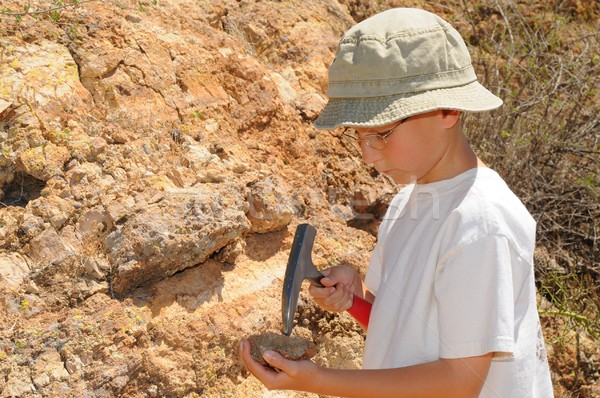 Boy Geology Student Stock photo © diomedes66